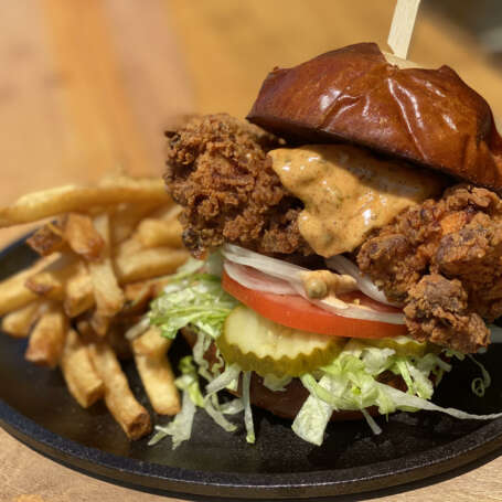 Feisty Fried Chicken Sandwich